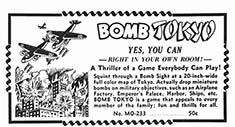 Bomb Tokyo, Yes YOu Can... Game advertised in 1943 Comic book