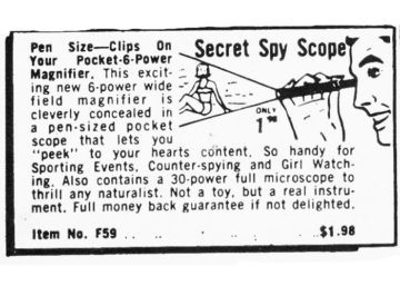 Secret Spy Scope advertisement