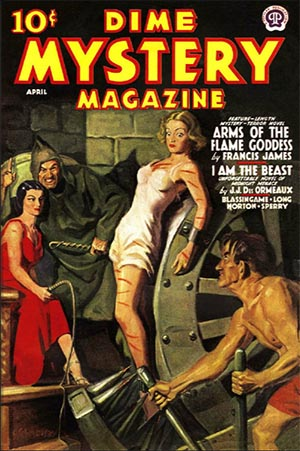 April 1938 Dime Mystery Magazine Cover