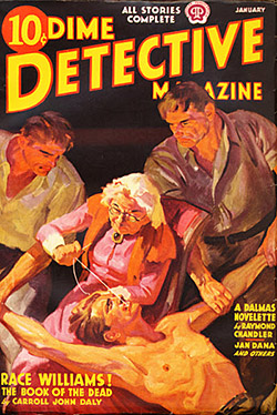 January 1938 Dime Mystery Magazine Cover