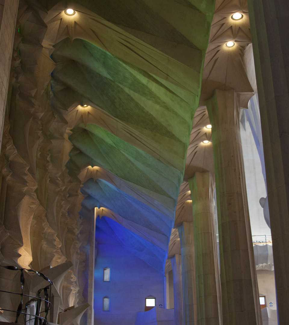 Lighting in the Sagrada Família