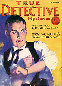 The Cover of True Detective Mysteries, October 1939. Man in Handcuffs