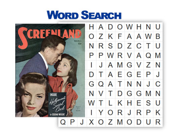 Bogart/Bacall Word Search