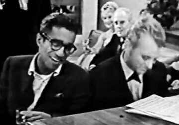 Sammy Davis Jr. at the piano with Matt Dennis
