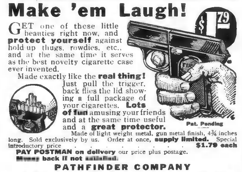 Make 'em laugh. Gun Advertisement